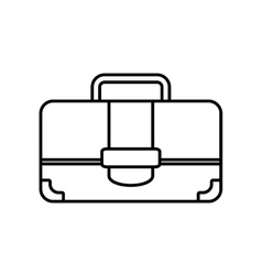 Portfolio suitcase travel business line vector