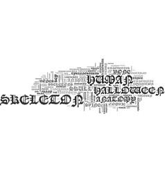 Skeleton word cloud concept vector