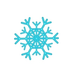 Snowflake icon cartoon style vector image vector image