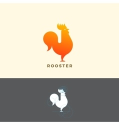 Stylized rooster sign emblem or logo template vector