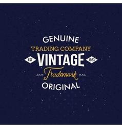 Vintage fashion labels on dark blue background vector