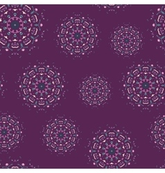 Vintage seamless pattern with hand drawn mandalas vector image