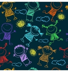 Background cheerful children vector