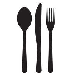 Monochrome pattern of dining accessorie - forks vector