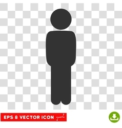 Child standing pose eps icon vector