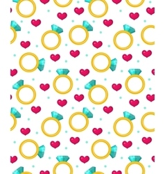 Cute seamless pattern valentines day with jewel vector