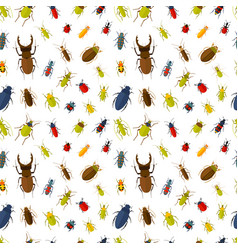 Seamless pattern with insects vector