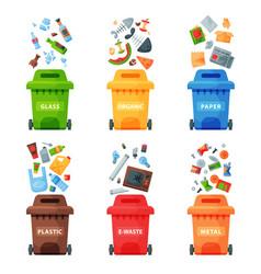 Waste management concept segregation separation vector