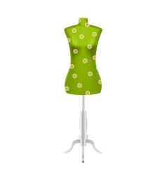 Green female tailors dummy mannequin vector