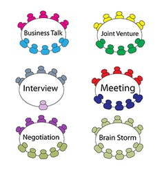 Business round table meeting1 01 vector