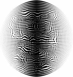 warped halftone vector image