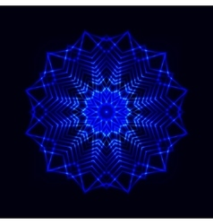 Abstract cosmic star snowflake vector