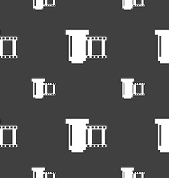 Negative films icon symbol seamless pattern on a vector