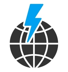 Global shock icon vector