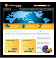 Business web site vector