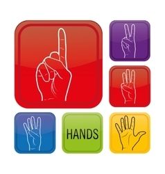 Sign language design vector