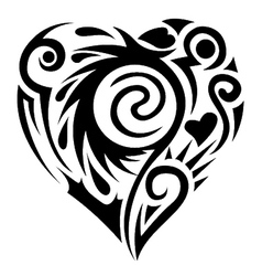 Tatoo heart vector