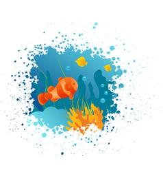 Underwater grunge vector