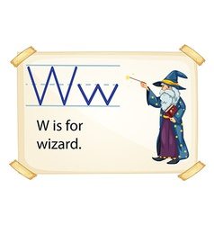 A letter W for wizard vector image