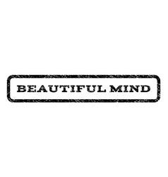 Beautiful mind watermark stamp vector