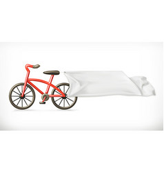 Bike and white banner graphic element vector image