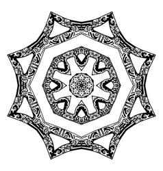 Black star pattern hand-drawn design vector