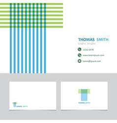 business card template with a letter t vector image