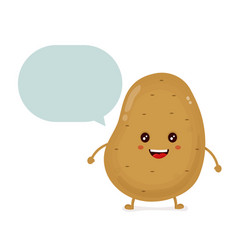 cute happy smiling funny potato with vector image vector image