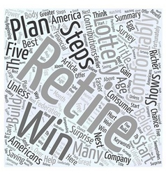 Five steps to a richer retirement word cloud vector
