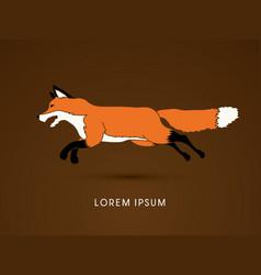Fox running graphic vector