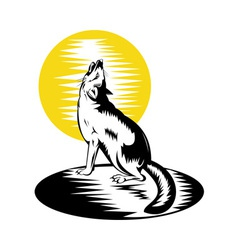 Fox wild dog howling vector