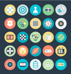 Gaming colored icons 3 vector