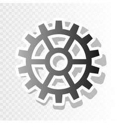 gear sign new year blackish icon on vector image
