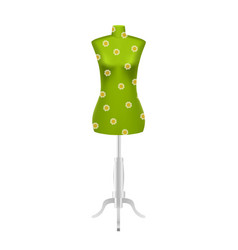 Green female tailors dummy mannequin vector