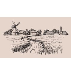 Hand drawn country vector