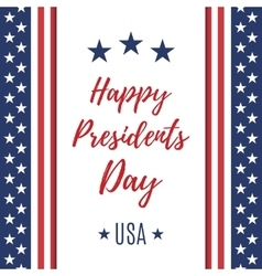 Happy presidents day poster or brochure template vector