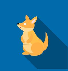 Kangaroo icon flat singe animal icon from the big vector