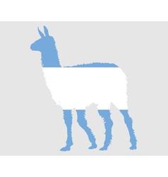 Lama Argentina vector image