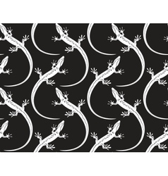 lizards on a seamless wallpaper pattern vector image vector image