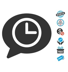 Message time icon with free bonus vector