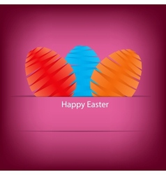 Paper card with easter eggs vector image vector image