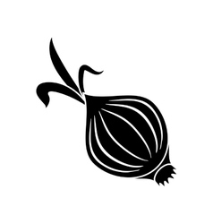 Pictogram onion vegetable nutrition sprout icon vector