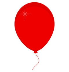 Red balloon icon vector image vector image