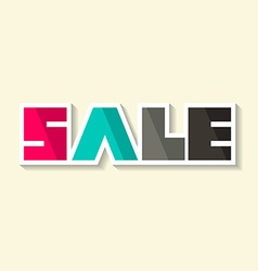 Sale Paper Title vector image vector image