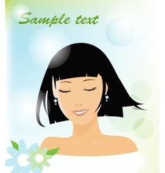smiling woman vector image vector image