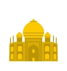 Taj mahal india icon flat style vector