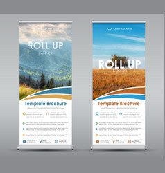 Template universal roll up banner for business or vector