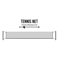 Tennis net realistic net used in the sport game vector