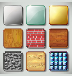 Texture background Application icon set vector image