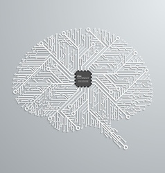 The brain in an electronic circuit with an vector